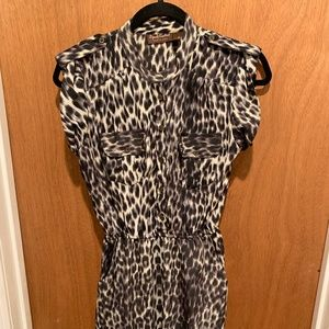 Speed Control Leopard Print Dress With Pockets Med